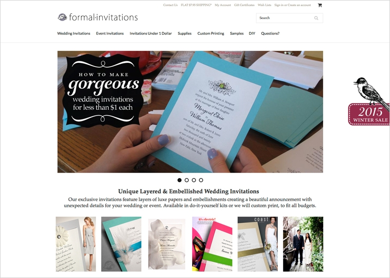 Invitations E-commerce