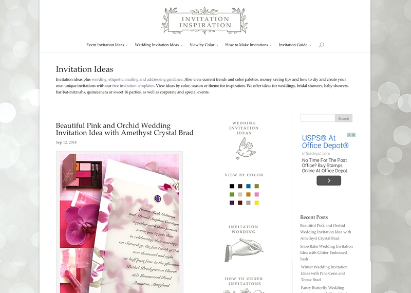 Invitation Blog with Survey